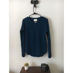 Dark Ocean Blue Crew Neck Cashmere Sweater